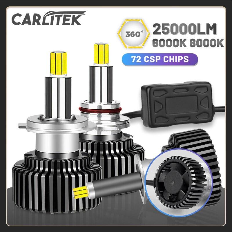 Светодиодные лампы CARLITEK H11 H1 H7 для фар 3D 9005 9006 9012 H9 H8, автомобильные фары, супер мини размер HB4 HB3, лампы для автомобиля, универсальные турбо