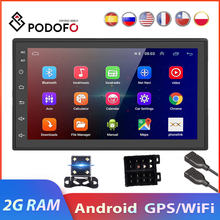 Podofo 2 Din Android Auto Multimedia Video Player 2G Ram Universele 2DIN Stereo Auto Radio Voor Volkswagen Nissan Toyota ford Lada