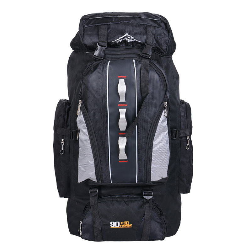 Waterproof Unisex 100L Men Backpack Travel Pack Sports Bag Pack Outdoor Mountaineering Hiking Climbing Camping Backpack For Male