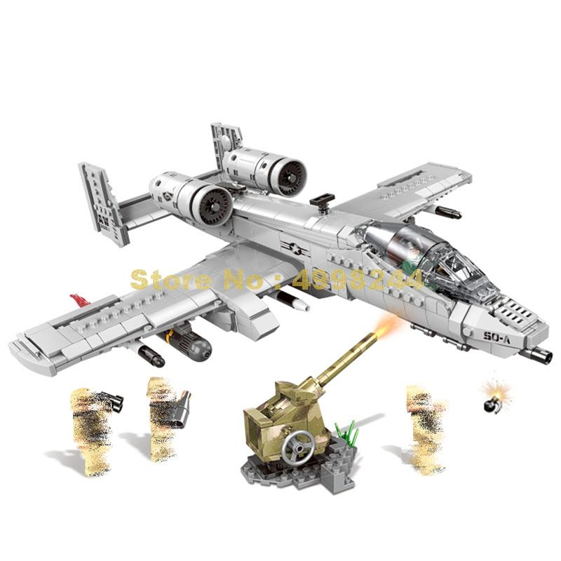Xb06022 961pcs ทหาร A10 Fighter ชุด Plane Building Blocks อิฐของเล่น-ใน บล็อก จาก ของเล่นและงานอดิเรก บน AliExpress - 11.11_สิบเอ็ด สิบเอ็ดวันคนโสด 1