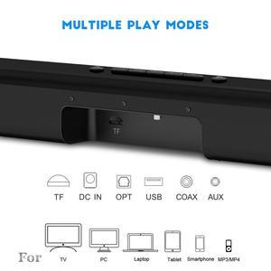 Image 2 - 40W HiFi kablosuz bluetooth Soundbar hoparlör 3D Surround Stereo Subwoofer TV ev sineması sistemi ses çubuğu film