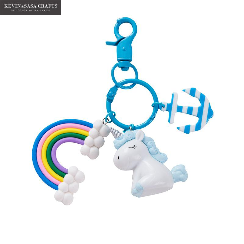 Unicorn Key Chain Doll Key Ring Gift For Girls Keychain Retractable Bag Decoration Accesorries Car Key Ring Tool School Supplies