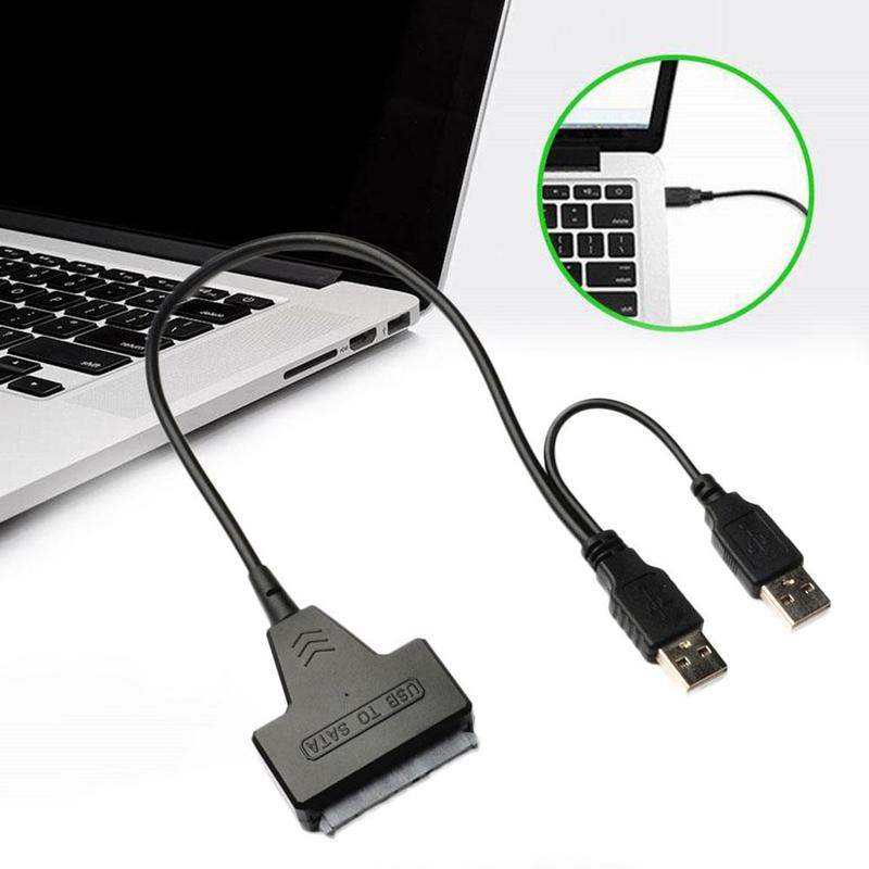 Universal SATA To USB 2.0 Adapter Cable Notebook USB 2.0 External Hard Drive Easy Drive Data Line Cable