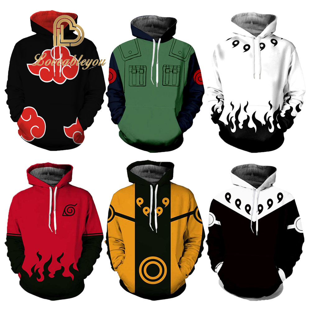 Hot Sale Anime Naruto 3D Printed Hoodies Women/Men Long Sleeve Casual Hooded Streetwear Clothes Customs