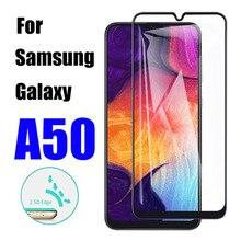 Vidro blindado para samsung galaxy a50 proteção folha de vidro segurança samsun galax um 50 protetor de tela 50a tremp temperado cam filme