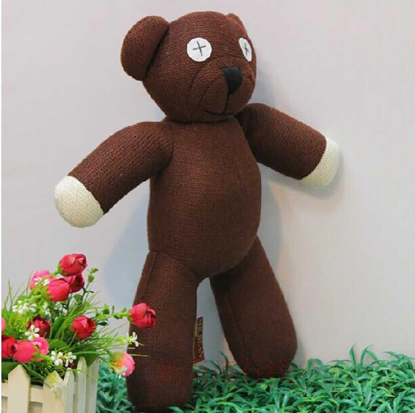 2020 nova venda quente 23cm altura mr bean teddy bear animal brinquedo de pelúcia recheado para presente das crianças cor marrom presente natal