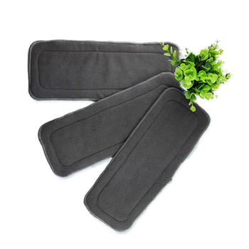 Bamboo Charcoal Reusable Diaper Cotton Hemp Cloth Nappy Changing Mat Microfiber Liners Washable Hot Sale