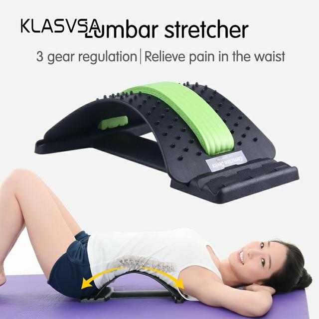 KLASVSA Back Stretcher Massager Neck Waist Pain Relief Magic Support Massage Home Muscle Stimulator Relaxation Fitness Equipment