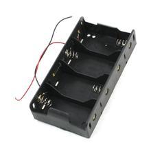 10pcs/lot MasterFire High Quality Black Plastic 4 x 1.5V D Wired Spring Loaded 1.5V D Size Battery Batteries Case Box Holder цена