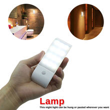 Nice Strip induction lamp Human body Infrared Motion Sensor USB Rechargeable LED Nightlight Light(China)