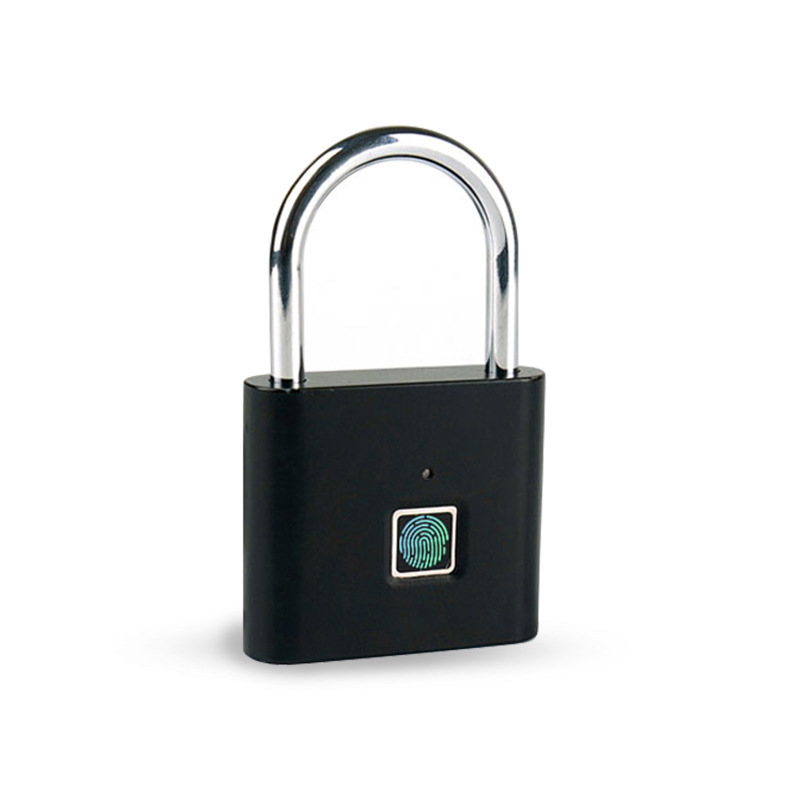 USB Rechargeable Smart Keyless Electronic Fingerprint Lock IP65 Home Anti-theft Safety Security Padlock Door Luggage Case Lock