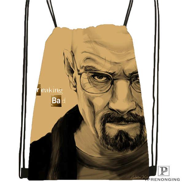 Custom Breaking_bad@1 Drawstring Backpack Bag Cute Daypack Kids Satchel (Black Back) 31x40cm#2018611-1