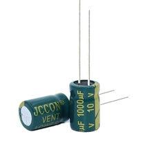 Capacidade eletrolítica de alumínio 10v1000uf 1000uf10v da baixa resistência de alta frequência de 20 pces volume: 8x12