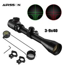 3-9 #215 40 taktyczna luneta celownicza celownik optyczny zielony czerwony podświetlany luneta polowanie Airsoft lunety celownicze Outdoor Reticle luneta tanie tanio Pistolet CN (pochodzenie) 3-9x40 Obiektyw Tactical Rifle Scope Tactical Optical Sights Red Green Airsoft Rifle Scopes Outdoor Reticle Sight Scope