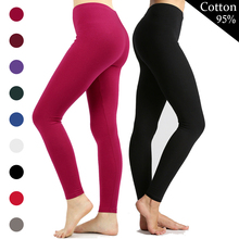 Leggings Women Cotton Sexy Push Up Leggings Solid Color High Waisted L