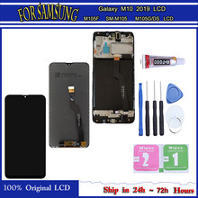 Oryginalny do Samsung Galaxy M10 2019 LCD SM-M105FN/DS M105F/DS M105 wyświetlacz z ekranem dotykowym Digitizer