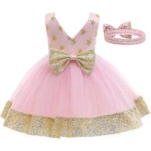 Vestidos infantis para meninas, vestidos para bebês meninas de 1 ano de aniversário com estampa de flores, vestidos de princesa para até batismo, vestido de ocasião para meninas