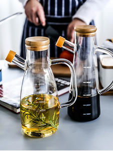 Oil-Bottle Container Glass Soy-Vinegar-Sauce Kitchen-Tools Lecythus Transparent Handle-Scale