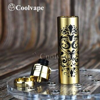 Coolvape – kit de vape mécanique en laiton avec armure, avec batterie rda 18650 de 24mm de diamètre