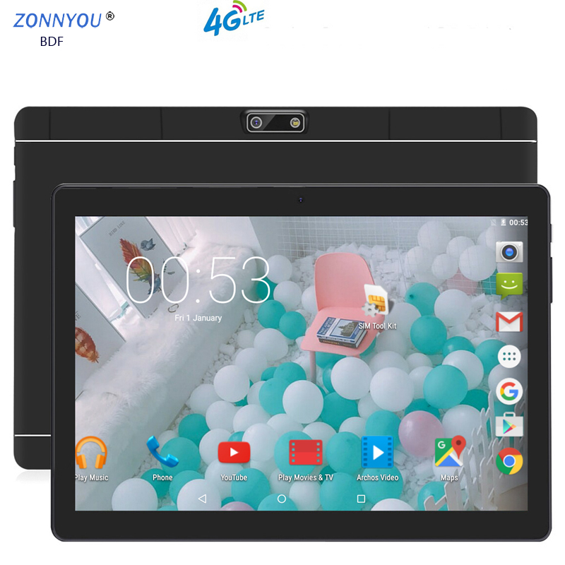 Newest 10.1 Inch Tablet PC Android 7.0 3G 4G LTE Octa Core 4GB RAM 64GB ROM Dual SIM 8.0MP Bluetooth Wi-Fi Android Tablet 10.1