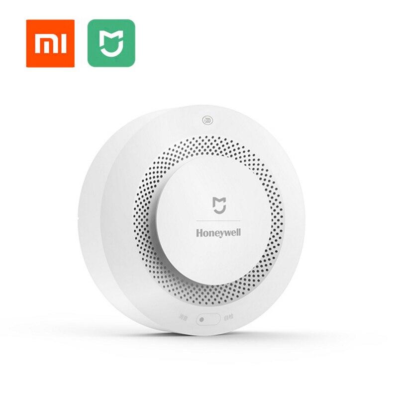 Xiaomi mijia aqara sem fio detector de fumaça de proteção contra incêndio alarme sensor periódico auto-teste lembrete para o sistema de alarme de segurança
