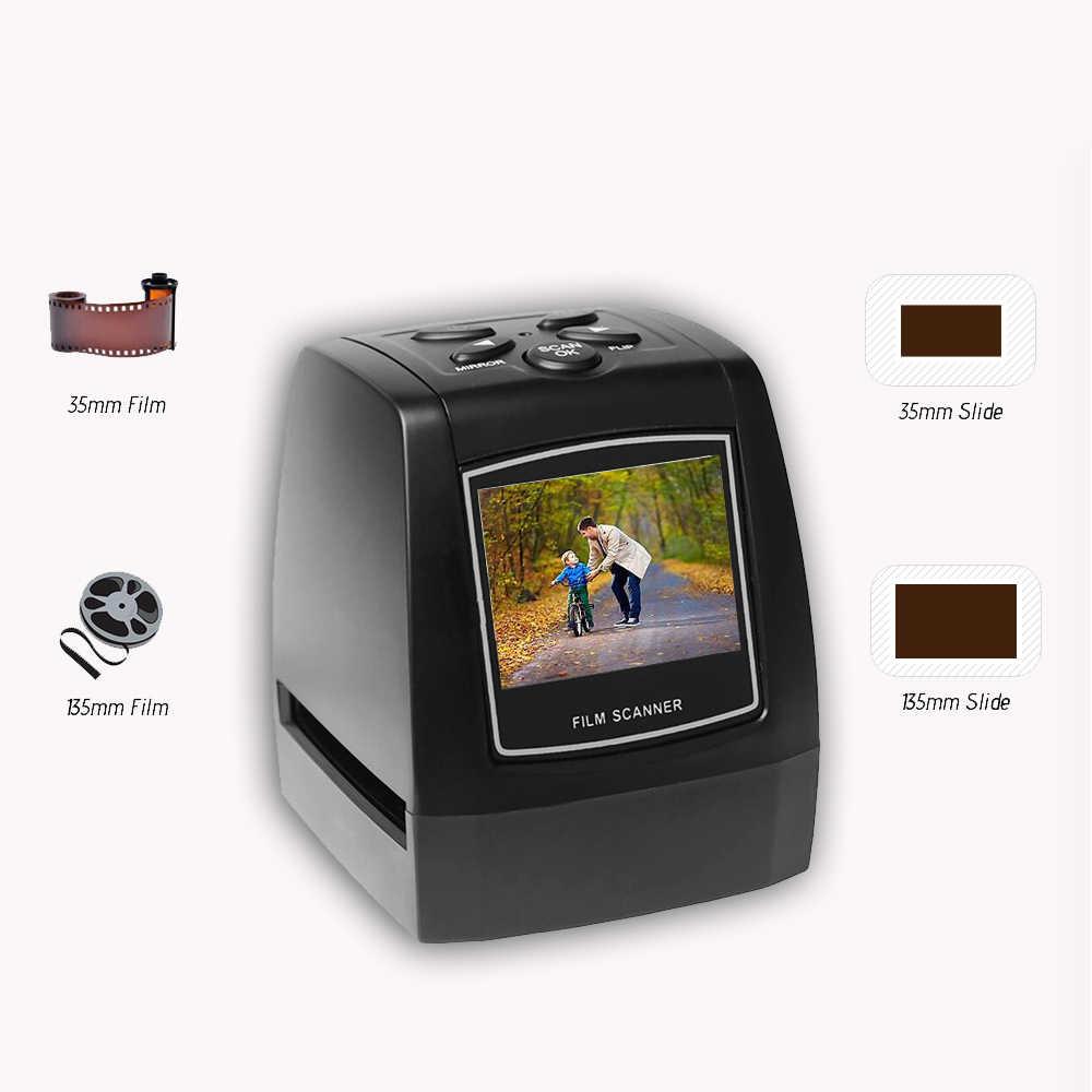 فيلم الماسحات الضوئية بروتابلي سلبية 35 مللي متر 135 مللي متر الشريحة تحويل فيلم الصورة الرقمية عارض الصور دعم SD بطاقة
