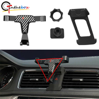 GTinthebox Carbon Fiber Pattern Style Phone Mount Holder Stand w/ AC Clip For 2013-2018 Audi Q3