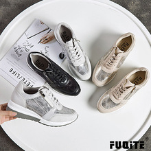 zapatos de mujer Snake Texture Shoes Women Fashion Brand Increase Sneakers Cross-tied Lady chaussure Autumn New Female footware