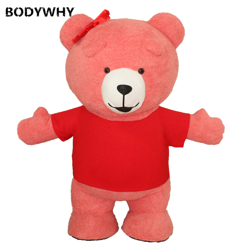 New 2.6M 3M Inflatable Teddy Bear  Mascot Costume Cosplay Party Advertising Customized Halloween Promotion Carnival for Adults