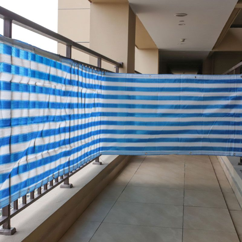 5m Heat Resistant Balcony Privacy Screen Fence Shade Cover Anti-UV Wind Protect Blue White