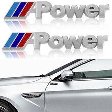 Наклейка на боковое крыло автомобиля, 2 шт., аксессуары для BMW M Performance Power X1 X3 X5 X6 E84 E83 F25 M3 E90 E91 E60 F15 F16 E70