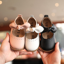 Baby Girls Leather Shoes Soft Classic Spring Autumn Fashion Children Sneakers Kids Dress Shoes Bow-knot Sweet for Toddlers 21-30 cheap JGVIKOTO 13-24m 25-36m 3-6y CN(Origin) Spring Autumn Female Fits true to size take your normal size Flat with beige black pink