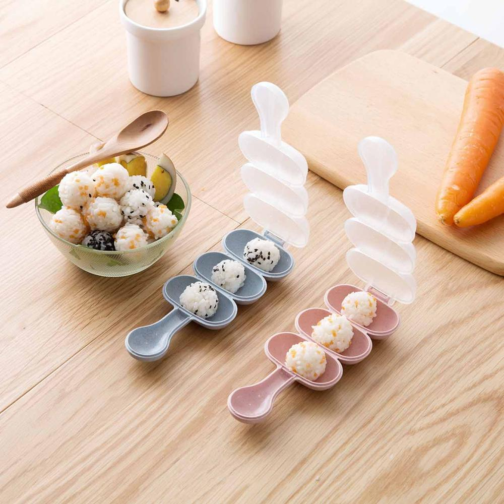 Sushi Mold Shake Rice Ball Mold Japanese Noodle Rice Mill DIY Tool Kitchen Household Machine Rice Ball Accessory Baby Feeding