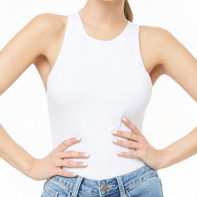 Body Tops de calle para mujer, Body blanco, ropa corta, Top Catsuit, talla grande, cuello redondo, Body Sexy sin mangas, 2020 5