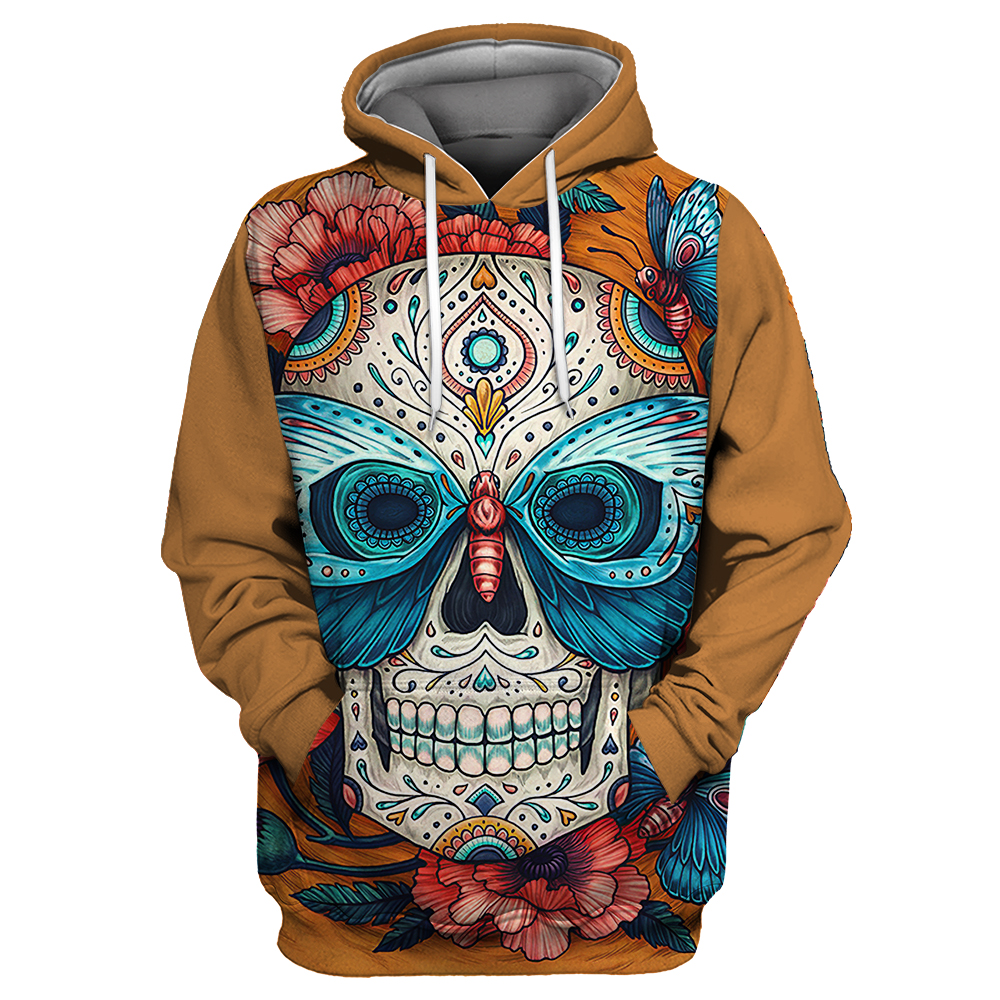 Showtly Horro Skull Mens Hoodies Jack Skellington Halloween Costumes Casual Anti Social Club Man Streetwear