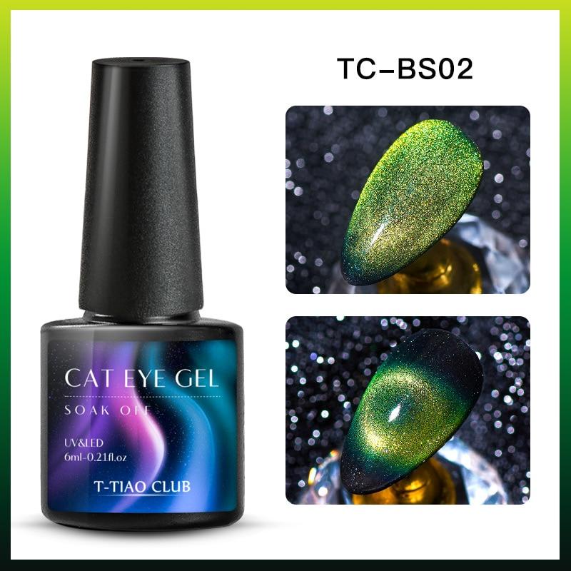 9D Гель-лак для ногтей с эффектом «кошачий глаз» лак Хамелеон звёздный Небесный Сияющий Магнитный Гель-лак для ногтей Магнитный замачиваемый УФ-гель лак черная основа - Color: DS08983