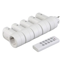 цена на 5 Wireless Remote Control Switches Socket Power Outlets Electrical Plugs Adaptors with Remote Control EU