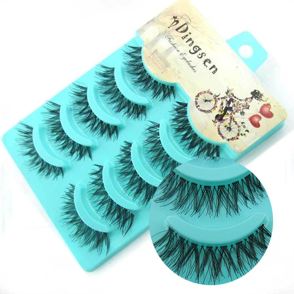NEW 5 Pairs Handmade 3d Mink Lashes Short False Eyelashes Crissross Messy Dense Natural Eye Lashes Stage Makeup False Eyelashes