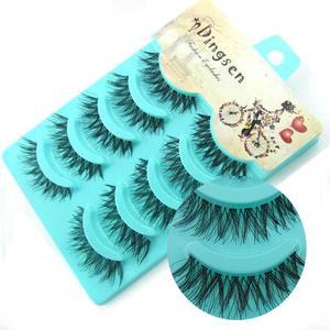 NEW 5 pairs Handmade 3d mink lashes short False Eyelashes Crissross Messy Dense Natural Eye Lashes Stage Makeup False Eyelashes(China)