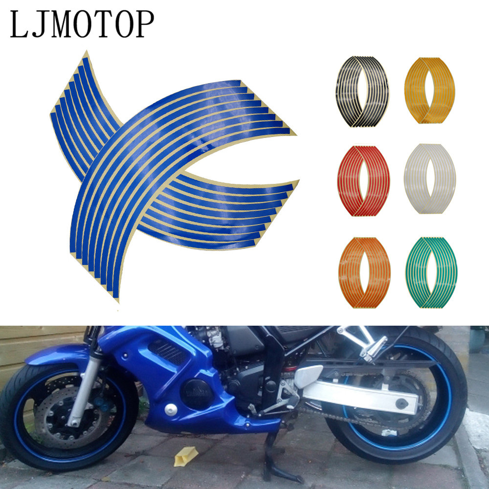 Motorcycle Wheel Sticker Motocross Reflective Decals Rim Tape Strip For Honda CRF 1000L 20M 250L XR 230 250 400 SL230 CRF150R