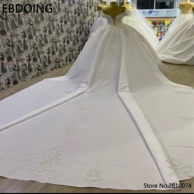 EBDOING Dream Lace Ball Gown Wedding Dress Sweetheart Neckline Vestidos De Novia Long Newest Plus Size Wedding Gown Bride Dress