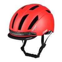 Novo Capacete de Ciclismo Capacete PC + EPS Esporte Segurança Inteligente Inteligente com Luzes Led para Crianças Moto Scooter de Patinação Helmts 52-58cm