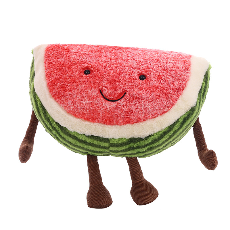 30CM Cute Watermelon Plush Toys Doll Stuffed Plant Cushions Kawaii Cartoon Fruits Pillow Soft Toy for Children Birthday Gifts