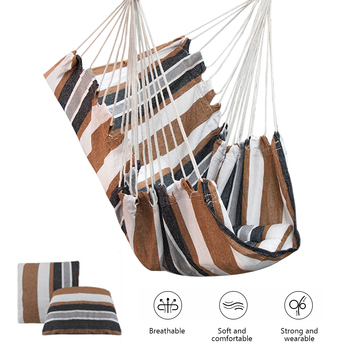 Hanging Rope With Pillows Hammock Garden Hang Lazy Chair Swinging Indoor Furniture Chair Swing Chair Seat Travel Camping Outdoor cotton rope garden swing chair thicken portable hammock with foot pad wooden indoor outdoor swing relax camping hang chair seat