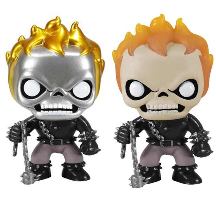 Sıcak film marvel galvanik Ghost Rider aksiyon figürleri 10cm süper kahramanlar 18 model oyuncak bebekler koleksiyonu erkek hediyeler