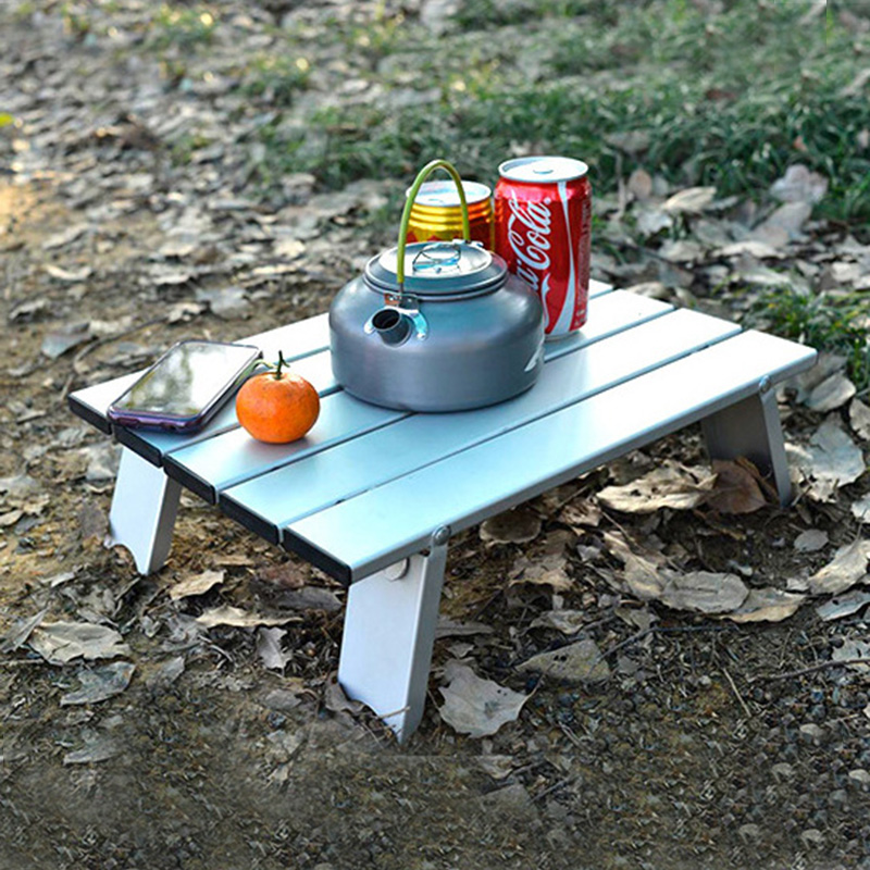 Ultralight Foldable Table Outdoor Furniture Mini Folding Portable Picnic Tables Light Aluminum Alloy Travel Table for Camping