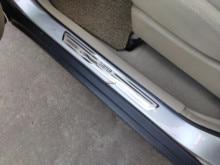Para el estilo del coche Dacia Renault plumero accesorios 2010 2018 2020 Acero inoxidable puerta Sill raspado placa Protector pegatina