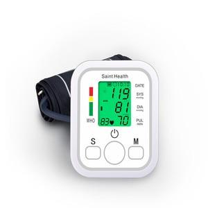 Image 5 - Saint Health Ingilizce sesli ve arka işık taşınabilir LCD dijital üst kol tansiyon ölçer renkli ekran otomatik tonometre Pulsemeter
