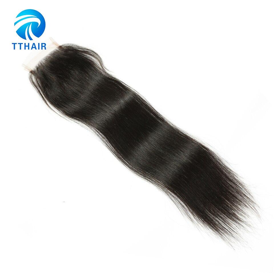 Image 4 - TTHAIR Straight Hair Bundles With Closure Remy Peruvian Hair Weave Bundles Human Hair Extension 3 Bundles With Closure-in 3/4 Bundles with Closure from Hair Extensions & Wigs