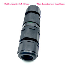 цена на IP68 3 core 16A  250V Core Waterproof Connector Adapter Screw Locking Cable Industrial Electrical Wire Connector Plug Black